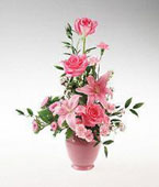 Tonga Flower Tonga Florist  Tonga  Flowers shop Tonga flower delivery online :Pink flower arrangement