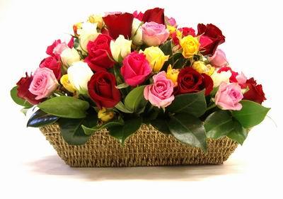 Livraison Fleurs Australie fleuriste Australie,fleurs de Australie Livraison fleurs Australie:LocalStreets:MIXED ROSE BASKET