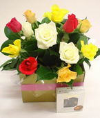 Australia Flower Australia Florist  Australia  Flowers shop Australia flower delivery online  ,:BOXED ROSES AND CHOCS