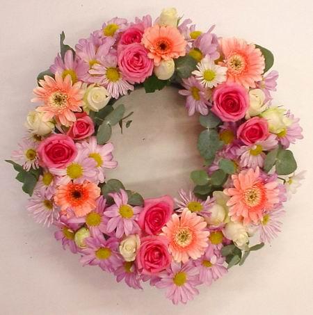 Livraison Fleurs Australie fleuriste Australie,fleurs de Australie Livraison fleurs Australie:LocalStreets:PASTEL FUNERAL WREATH