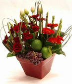 Australia Flower Australia Florist  Australia  Flowers shop Australia flower delivery online  ,:FRUIT AND FLOWER POT