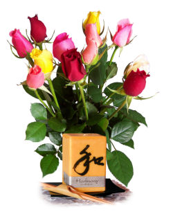 Send flowers online international -LocalStreets- Flower delivery,florists:Good Fortune Candle & Simply Roses