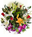 US Arranged Roses US,,:Rose & Lily Premium Bouquet