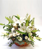 New Zealand Flower Baskets New Zealand,:WHITE FLOWER BASKET