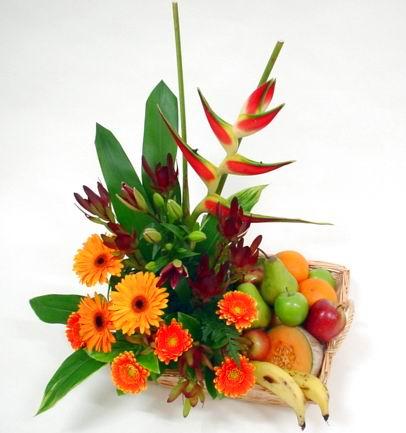 Livraison Fleurs Nouvelle-Zélande fleuriste Nouvelle-Zélande,fleurs de Nouvelle-Zélande Livraison fleurs Nouvelle-Zélande:LocalStreets:FRUIT AND FLOWER BASKET