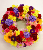 New Zealand Flower New Zealand Florist  New Zealand  Flowers shop New Zealand flower delivery online  :COLOURFUL WREATH