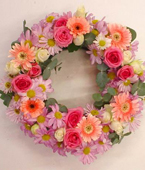 New Zealand Flower New Zealand Florist  New Zealand  Flowers shop New Zealand flower delivery online  :PASTEL FUNERAL WREATH