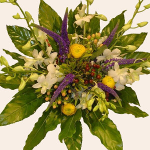 Portugal Flower Portugal Florist  Portugal  Flowers shop Portugal flower delivery online  :Tropical Orchid Bouquet (Normal)
