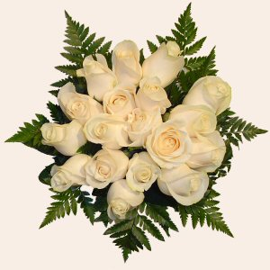 Portugal Flower Portugal Florist  Portugal  Flowers shop Portugal flower delivery online  :White Roses Bouquet (18 Roses)
