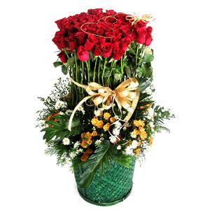 100 Roses Basket-10