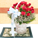 S.Korea Flower S.Korea Florist  S.Korea  Flowers shop S.Korea flower delivery online  ,S.Korea:Rose Basket-k13