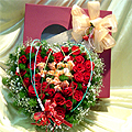 S.Korea Flower S.Korea Florist  S.Korea  Flowers shop S.Korea flower delivery online  ,S.Korea:Heart Box -3