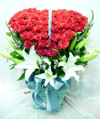South Korea Flowers South Korea flower South Korea florists :Love Basket-15