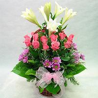 Livraison Fleurs Corée du Sud fleuriste Corée du Sud,fleurs de Corée du Sud Livraison fleurs Corée du Sud:LocalStreets:Rose+Lily Basket-ad