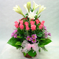 S.Korea Flower S.Korea Florist  S.Korea  Flowers shop S.Korea flower delivery online  ,S.Korea:Rose+Lily Basket-ad
