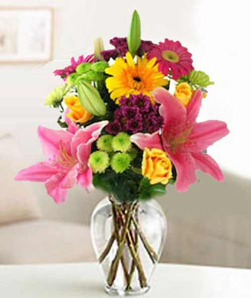 Philippines Lilies & Orchids Philippines,:Festive Bouquet