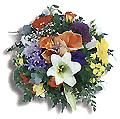 Turkey Anniversary Turkey,:Mixed seasonal flowers in basket