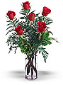 Turkey Flower Turkey Florist  Turkey  Flowers shop Turkey flower delivery online  :6 Roses in a glass vase