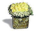 Livraison Fleurs Turquie fleuriste Turquie,fleurs de Turquie Livraison fleurs Turquie:LocalStreets:Yellow roses group arrangement in glass pot