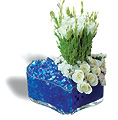 Turkey Flower Turkey Florist  Turkey  Flowers shop Turkey flower delivery online  :Wite roses in heart format glass pot