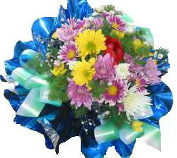 Ukraine Flower Ukraine Florist  Ukraine  Flowers shop Ukraine flower delivery online  :Dazzling Rainbow Flower Basket
