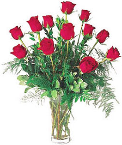 Ukraine Flower Ukraine Florist  Ukraine  Flowers shop Ukraine flower delivery online  :Composition of 11 Long-Stem Roses surrounded by greenery!