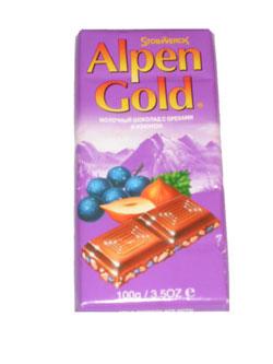 Ukraine Chocolates Ukraine,:Alpen Gold Chocolate