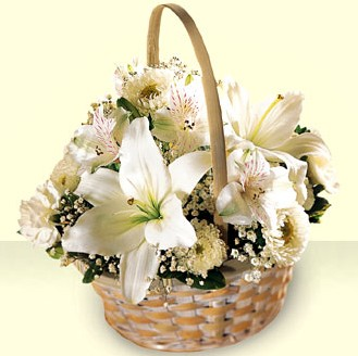 China Flower China Florist  China  Flowers shop China flower delivery online  ,China:White Basket