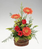 Guinea-Bissau Congratulations Guinea-Bissau,Other State:Bouquet gerberas and roses