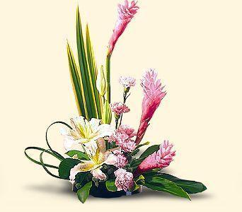 Ginger and lilies bouquet