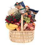large gourmet and fruit basket