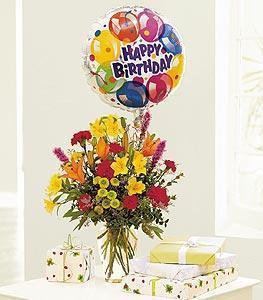 Birthday Mixed Balloon Bouquet
