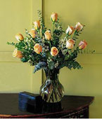 Micronesia Mother's Day Micronesia,Other State:A Dozen Pale Peach Roses