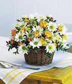 Turkmenistan Flower Turkmenistan Florist  Turkmenistan  Flowers shop Turkmenistan flower delivery online :Joyful Roses and Daisies