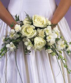 Greece Orchid Greece,:Crescent Wedding Bouquet