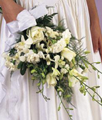 Swiss Orchid Swiss,:Wedding Decor Cluch Bouquet