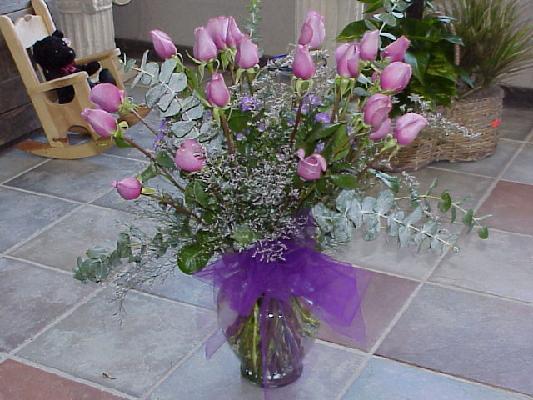 24 Lavender roses bouquet