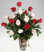 Singapour Valentine's Day (Feb 10-15) Singapour,:24  roses  Red & White Rose