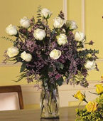 Greece Roses Greece,:White Roses Arrangement