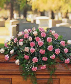 Austria Sympathy Austria,:Heavenly Pink Casket Spray