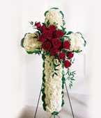 Finland Sympathy Finland,:Roses and white carnations Cross