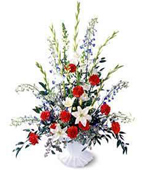 Micronesia Sympathy Micronesia,Other State:Red, white and blue flowers