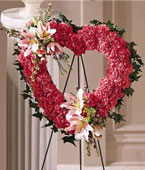Micronesia Sympathy Micronesia,Other State:Our Love Eternal ⢠Heart Wreath