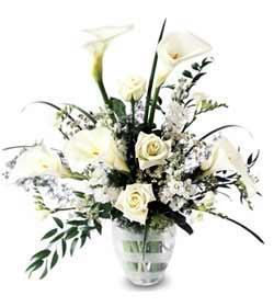 New White Callas Bouquet
