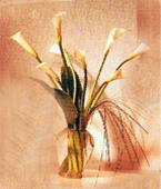 Greece White Flowers Greece,:Calla Lilies Bouquet