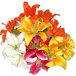UAE Bouquets UAE,:Mixed Lilies